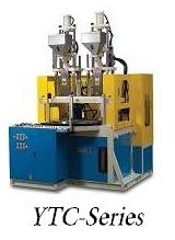 Two color vertical injection moulding machine